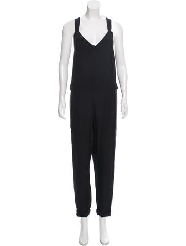 Vanessa Bruno Athé Sleeveless Silk Jumpsuit None