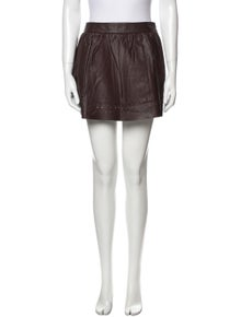 Vanessa Bruno Athé Lamb Leather Mini Skirt w/ Tags