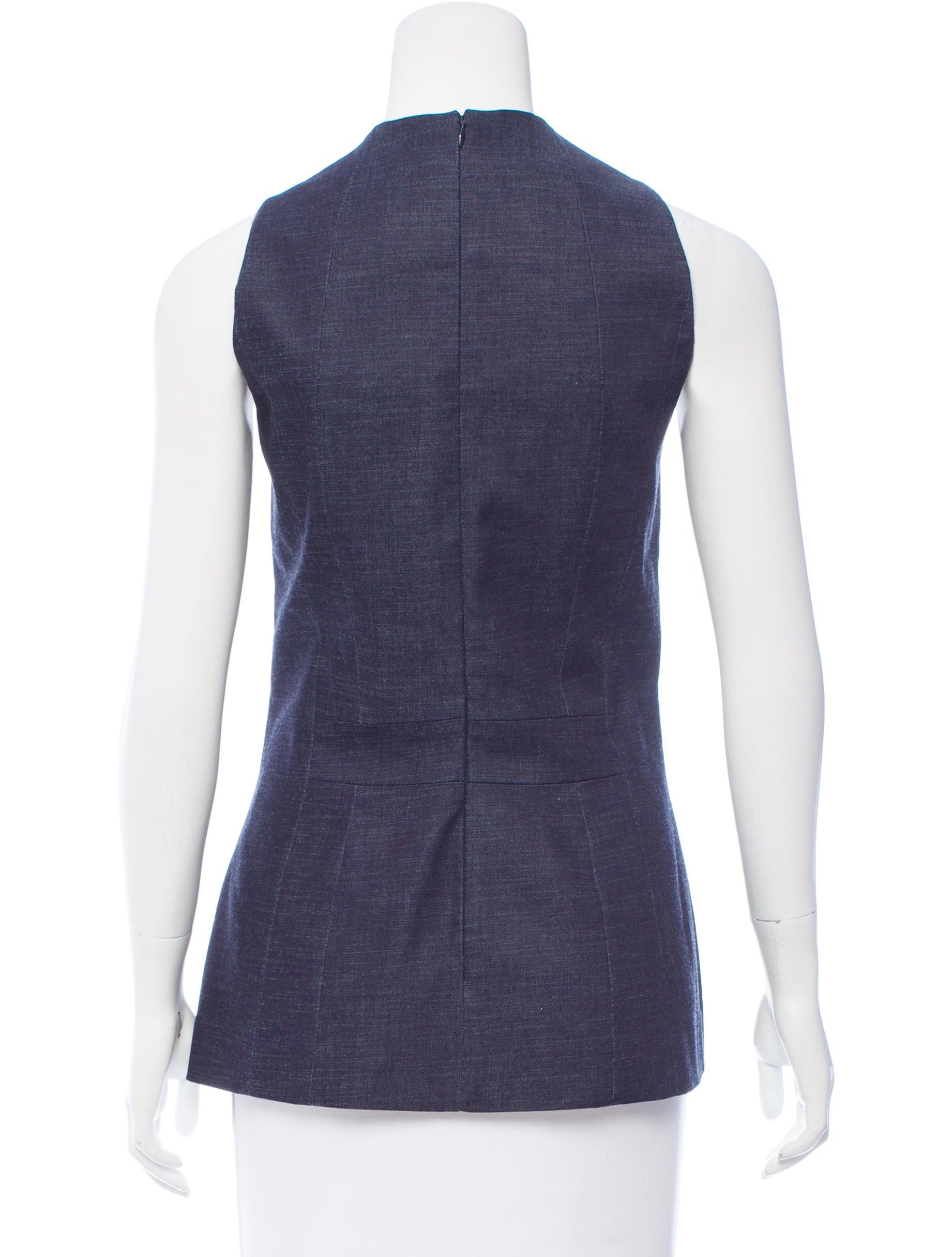 Victoria Beckham Jeans Denim Peplum Top W Tags Clothing