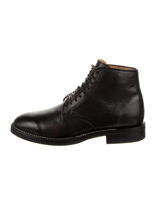 Viberg Leather Lace-Up Boots Black