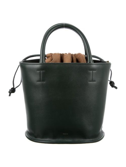 Vasic Leather Structured Bucket Bag Green