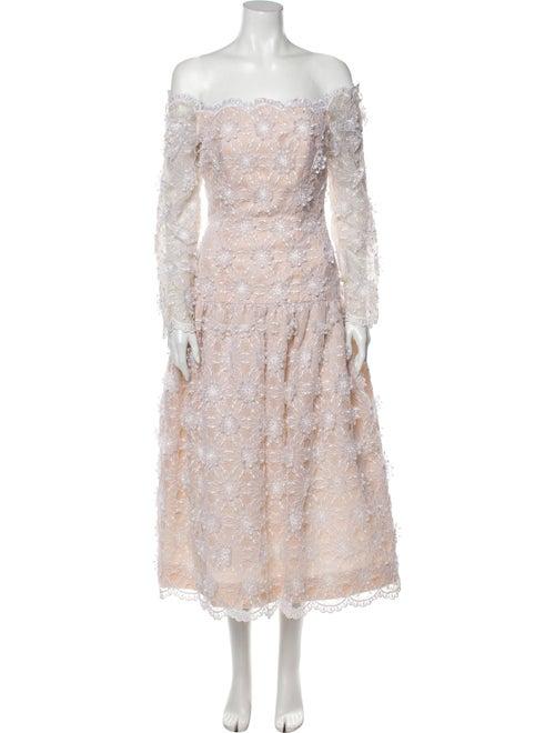 Victor Costa Square Neckline Long Dress