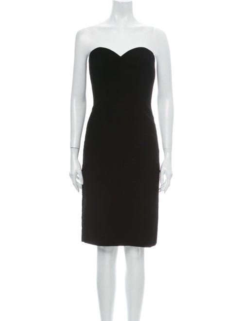 Victor Costa Strapless Mini Dress Black
