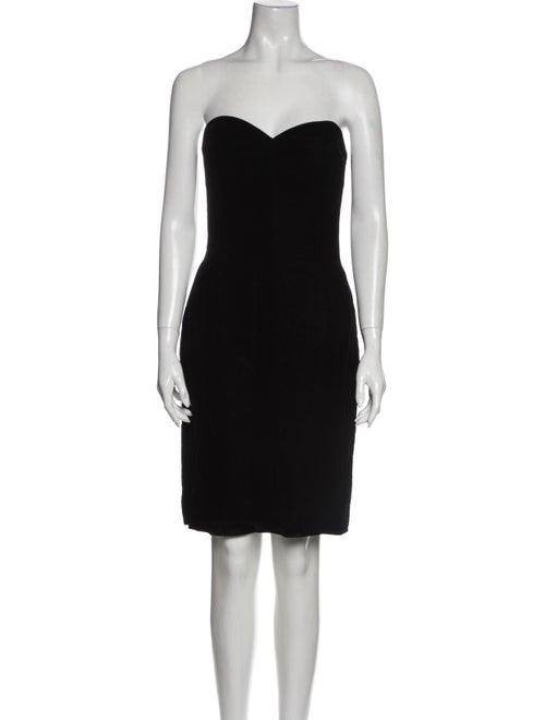 Victor Costa Strapless Mini Dress Black - image 1