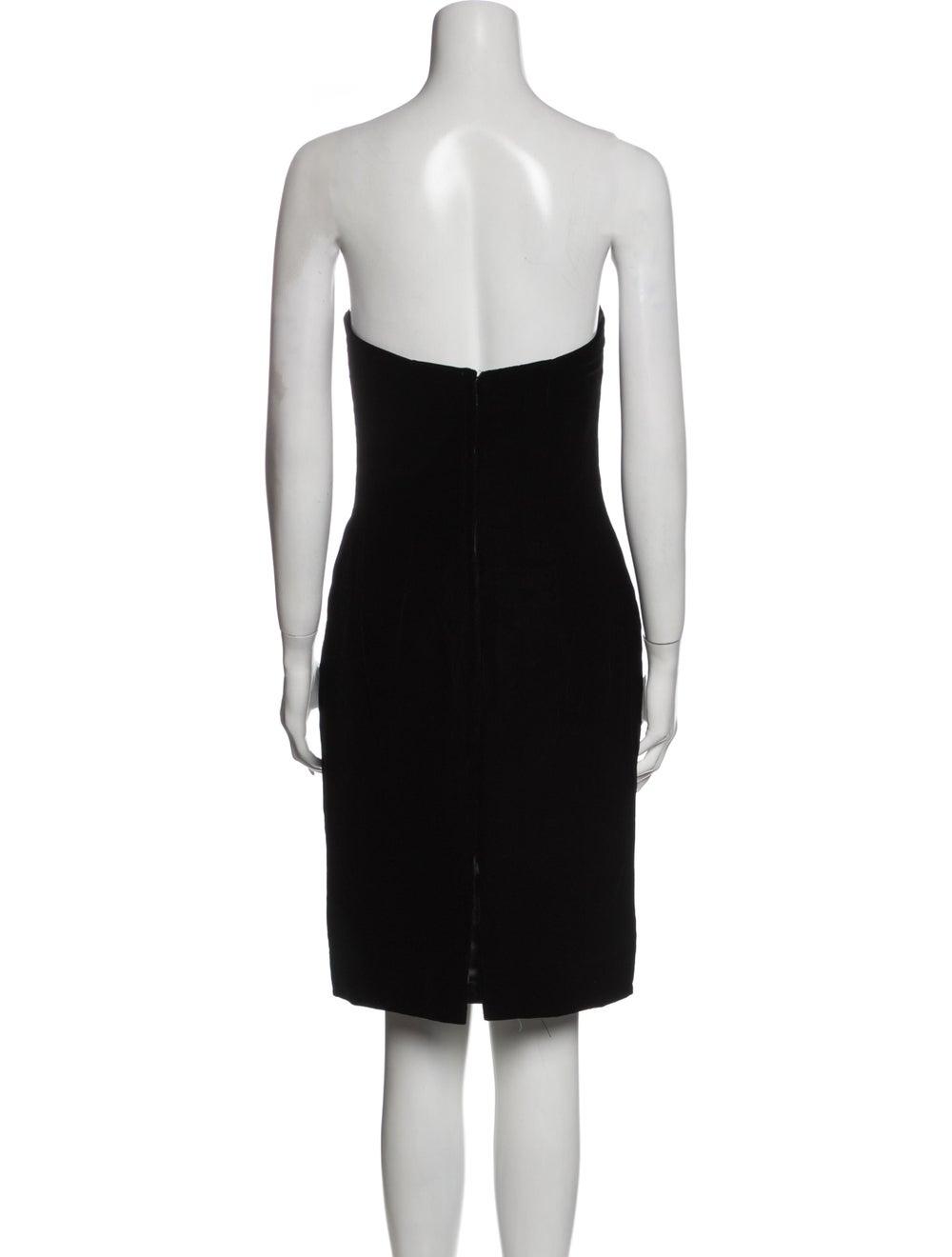 Victor Costa Strapless Mini Dress Black - image 3