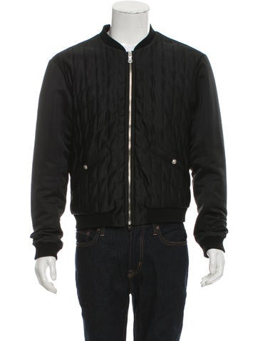 Versus Quilted Bomber Jacket None