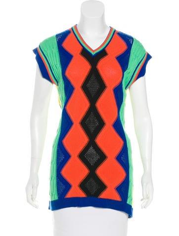 Versus Colorblock Knit Top None