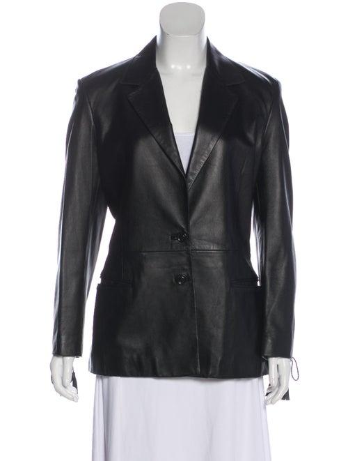 Versus Leather Blazer Black