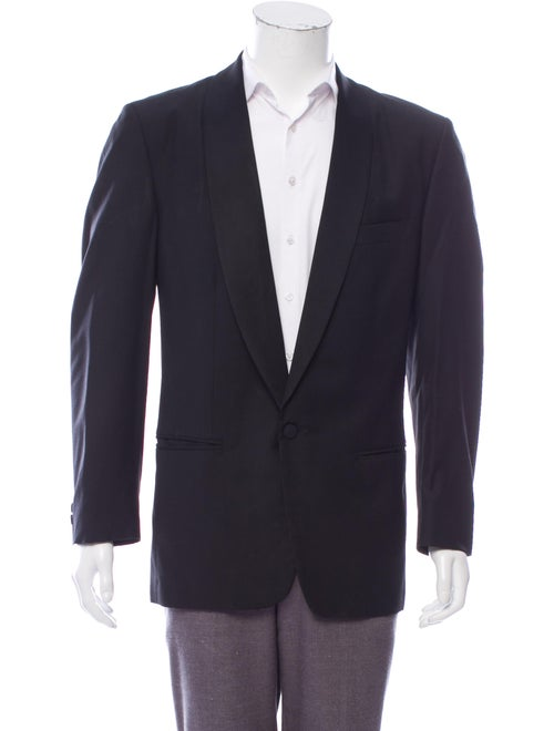 Versus Wool Tuxedo Jacket black