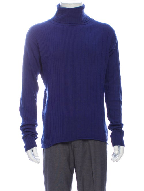 Versus Turtleneck Long Sleeve Pullover Blue