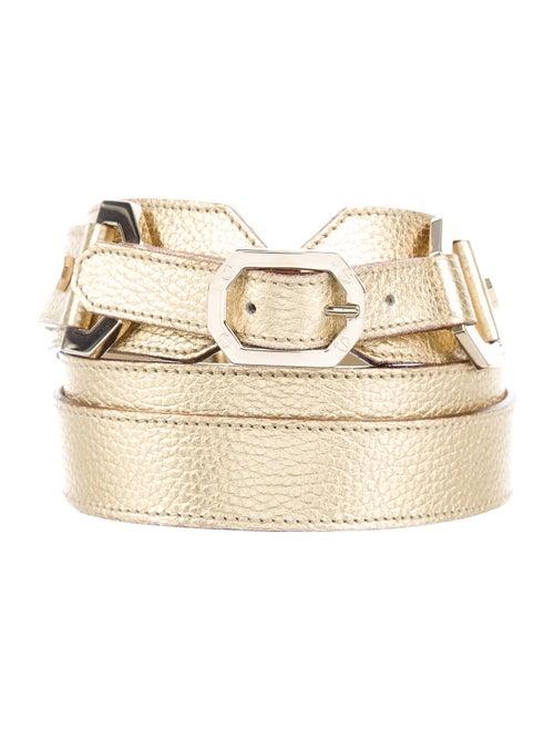 Versus Leather Belt Gold