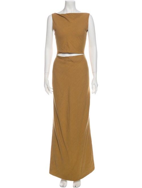 Bevza Linen Long Dress Yellow