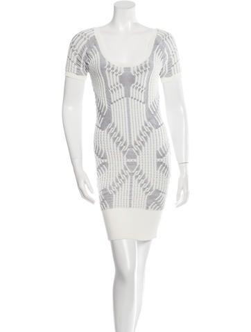 Vena Cava Knit Embroidered Mini Dress None