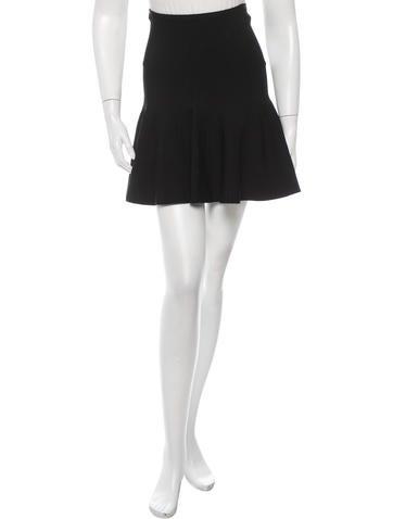 Vena Cava Knit Flared Skirt None
