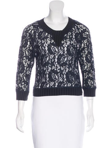 Vena Cava Lace Long Sleeve Top None