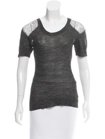 Vena Cava Lace-Accented Knit Top None