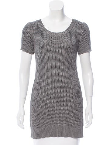 Vena Cava Crochet Short Sleeve Sweater None