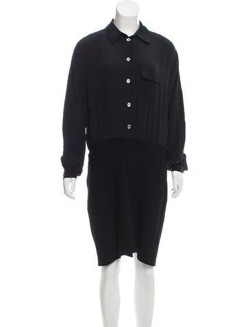 Vena Cava Silk Knee-Length Shirtdress None