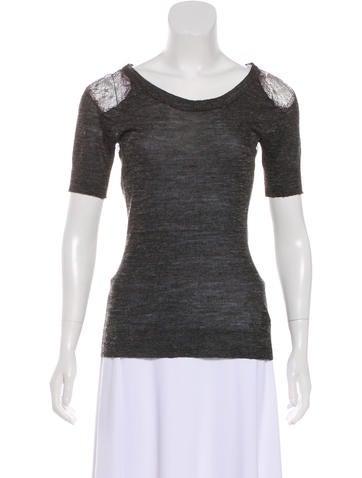 Vena Cava Semi-Sheer Knit Top None