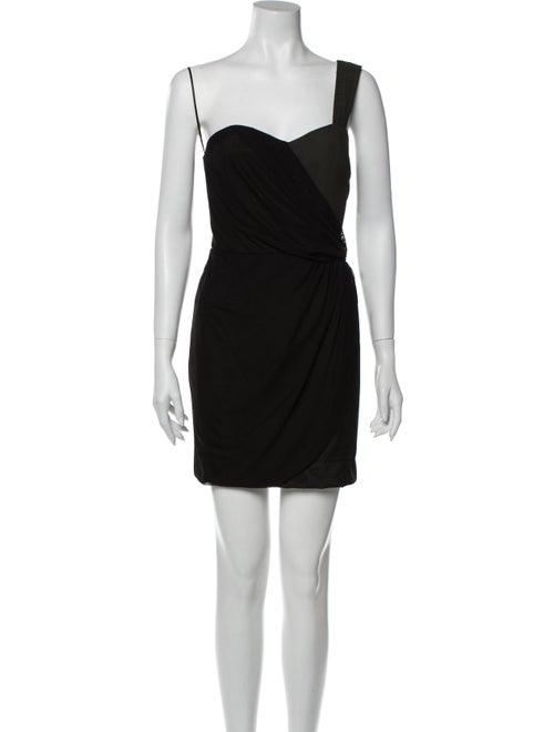 Vena Cava Asymmetrical Mini Dress Black