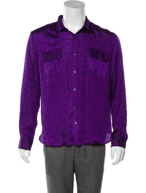 VeniceW Paisley Button-Up Shirt indigo