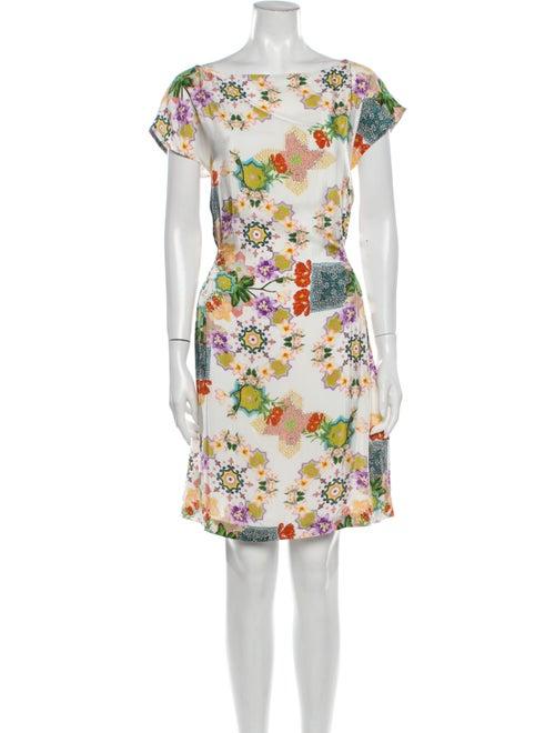 Verandah Floral Print Mini Dress White