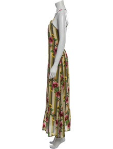 Verandah Floral Print Long Dress w/ Tags