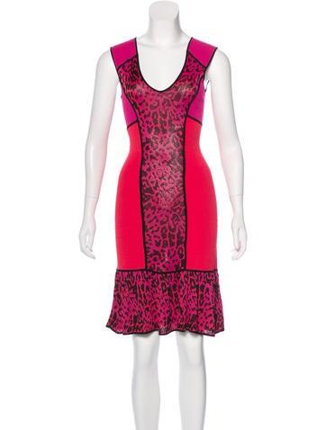 Marchesa Voyage Rib Knit A-Line Dress None
