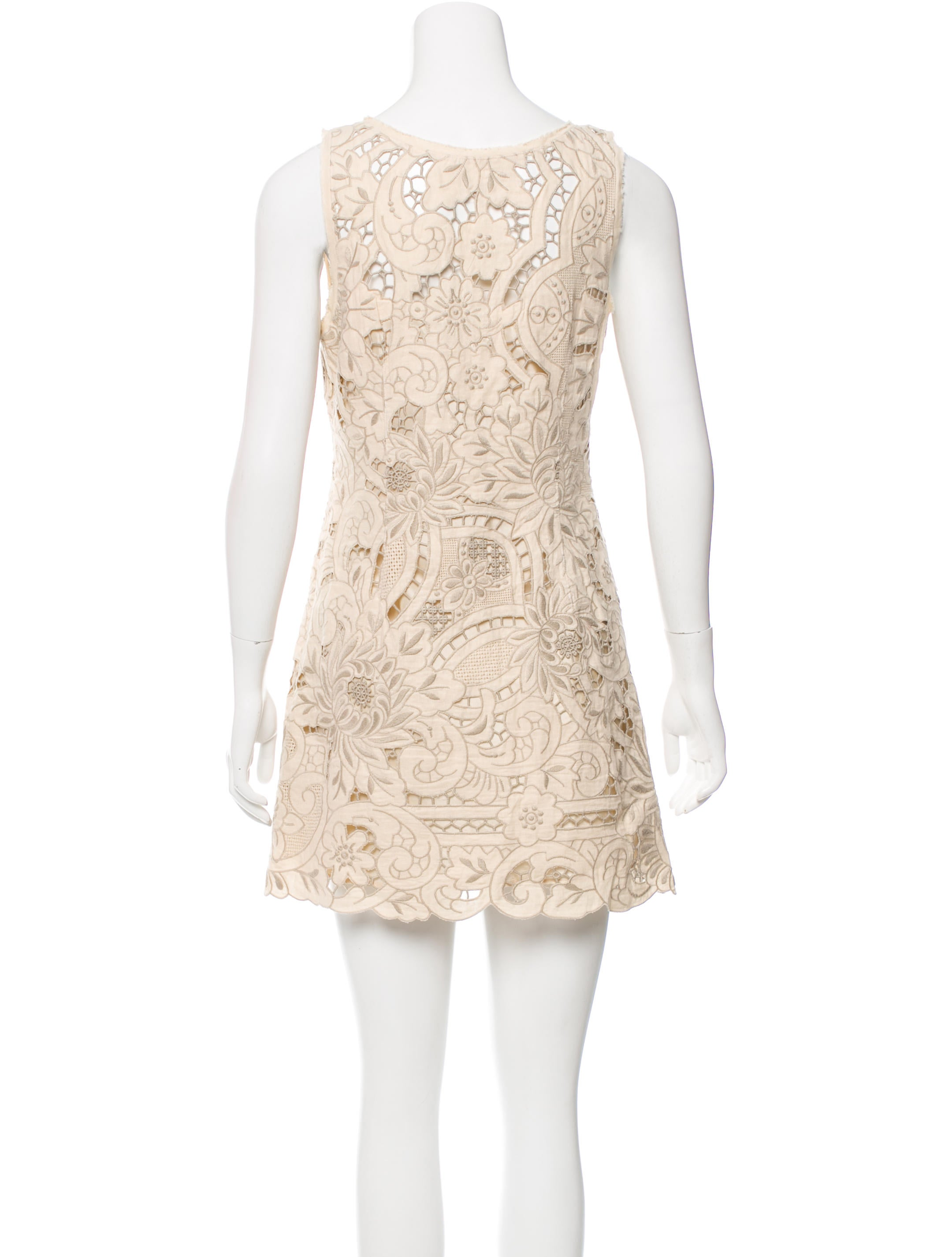 Vivienne tam floral embroidered mini dress clothing