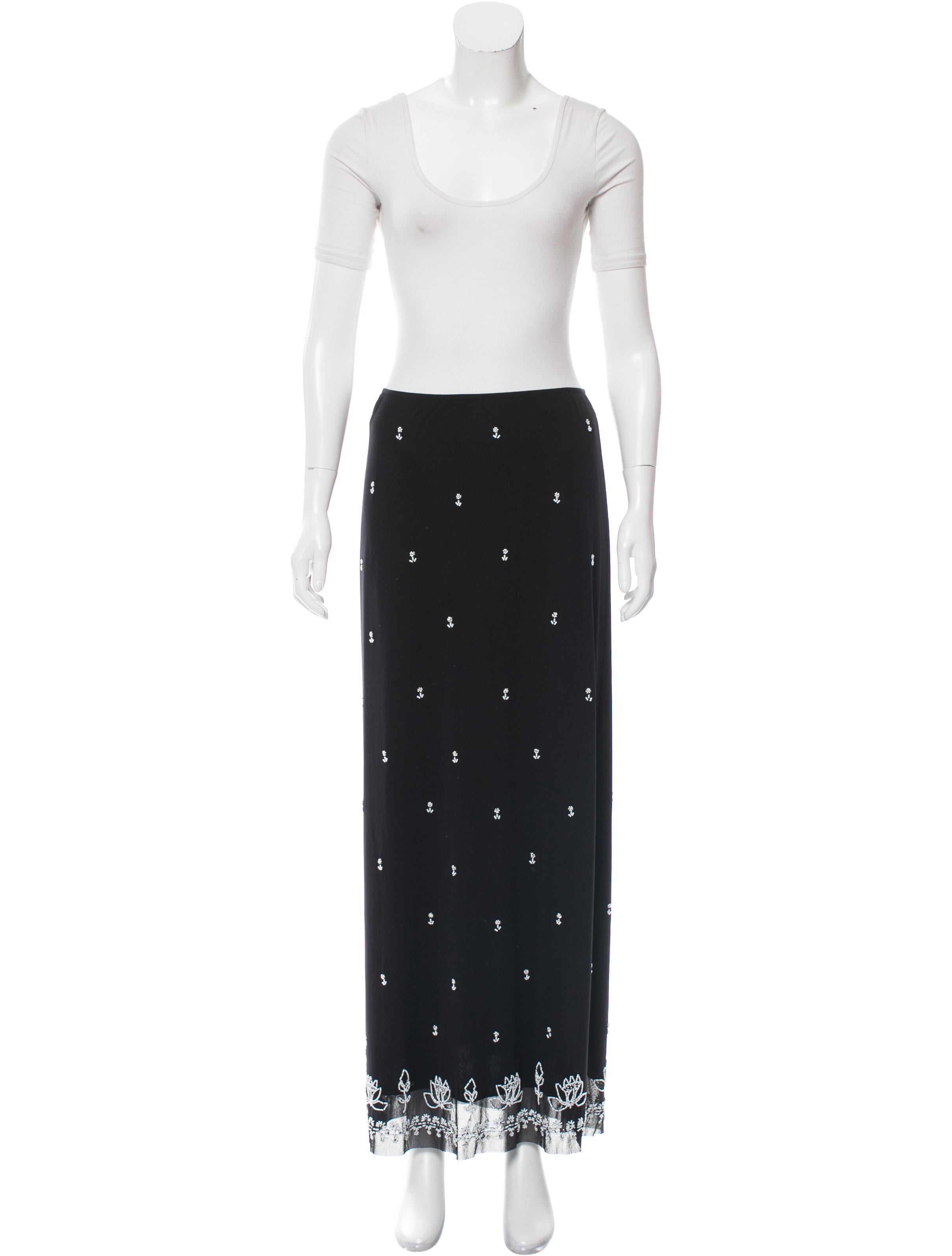 vivienne tam beaded midi skirt set clothing wvi20054