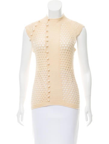 Vivienne Tam Wool Open Knit Top Clothing Wvi20153 The Realreal