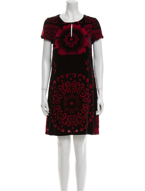 Vivienne Tam Printed Knee-Length Dress Black