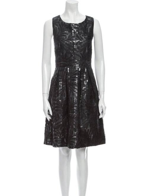 Vivienne Tam Silk Knee-Length Dress Black