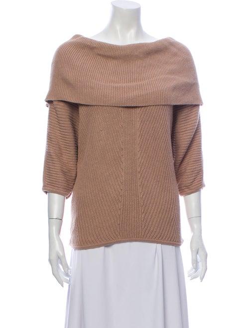 Vivienne Tam Off-The-Shoulder Sweater