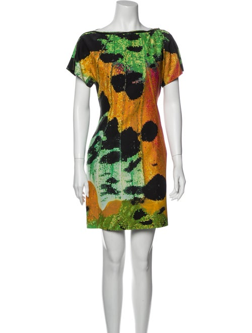 Vivienne Tam Silk Mini Dress Orange