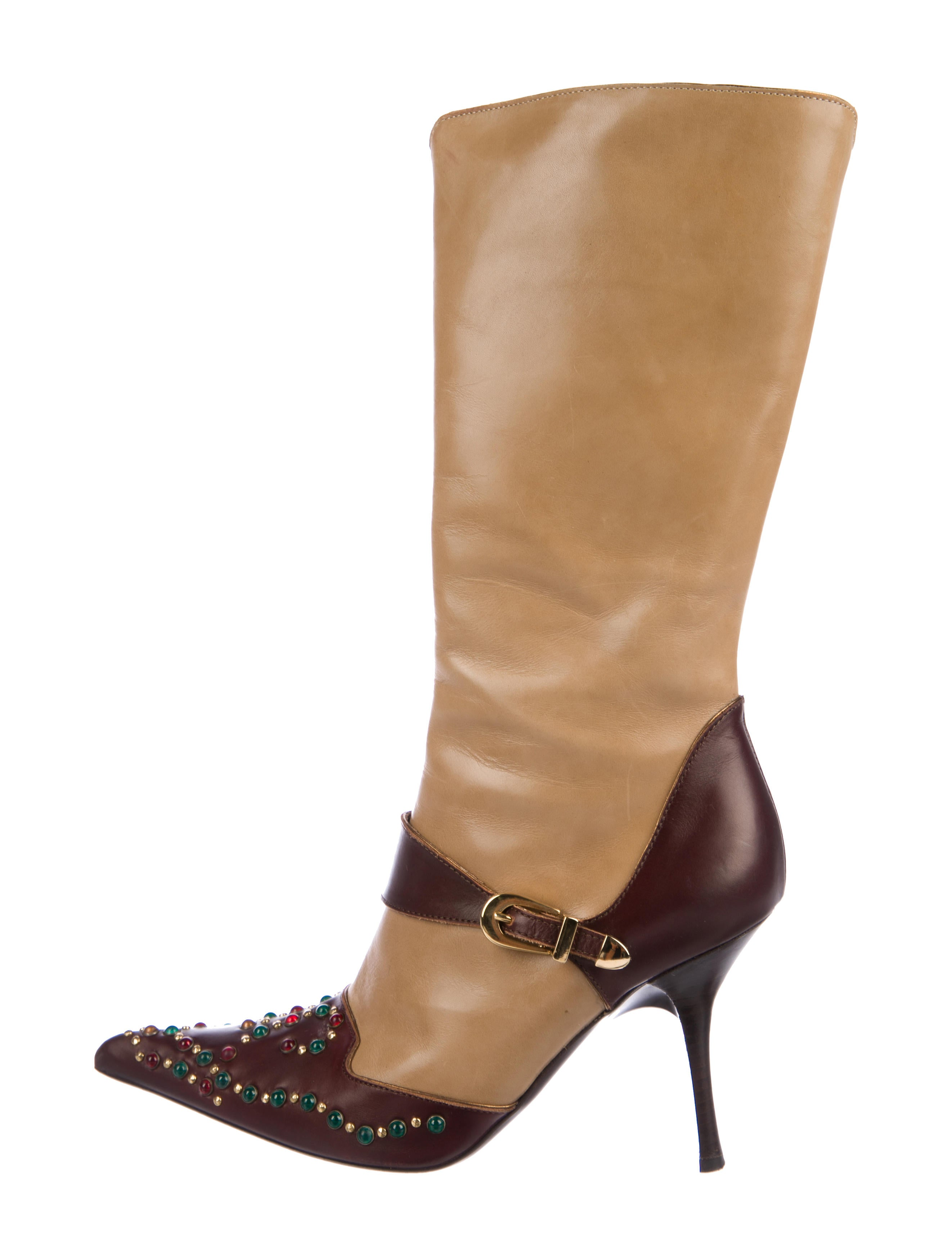 Vicini Studded Leather Boots