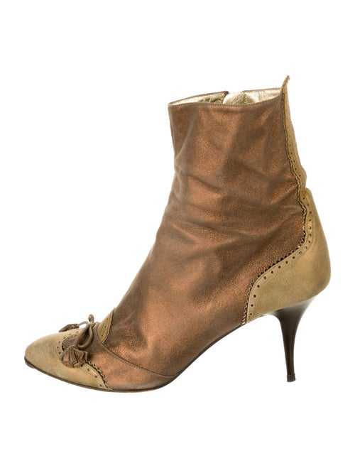 Vicini Leather Boots Gold