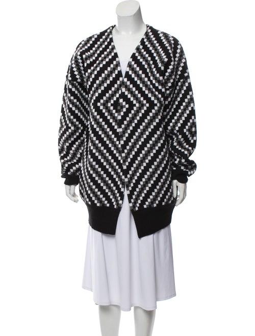 Victor Glemaud Printed V-Neck Sweater Black
