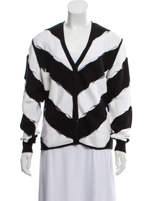 Victor Glemaud Cutout-Accented V-Neck Cardigan w/