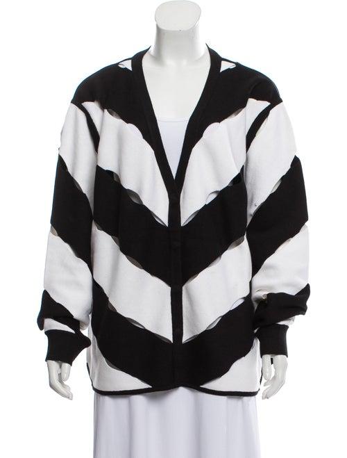 Victor Glemaud Striped V-Neck Sweater Black