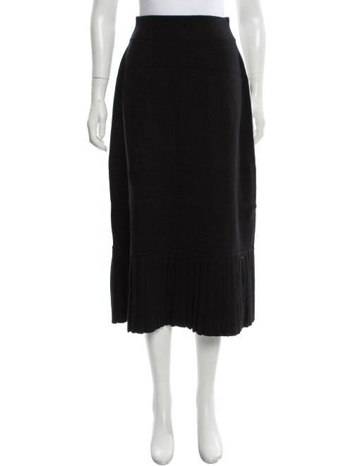 Victor Glemaud Pleated Midi Skirt wool