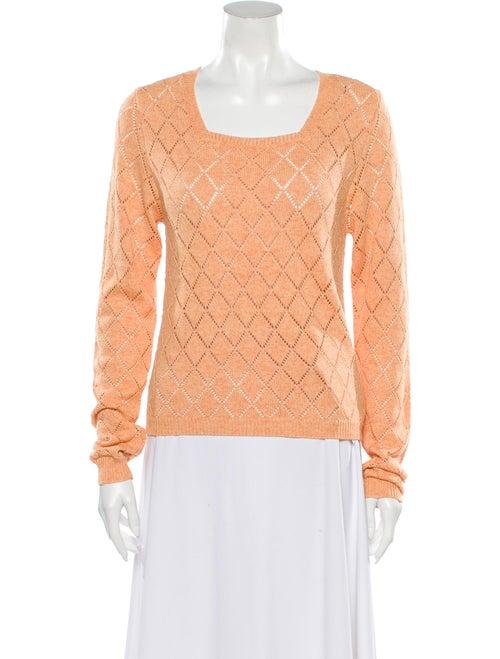 Victor Glemaud Printed Scoop Neck Sweater Orange