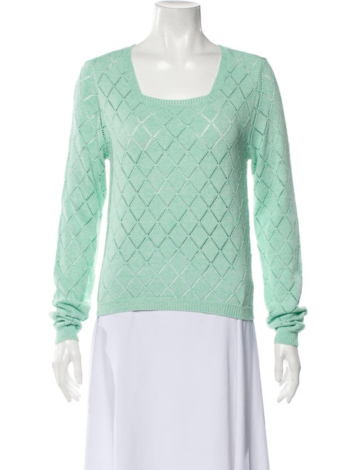 Victor Glemaud 2020 Scoop Neck Sweater Green