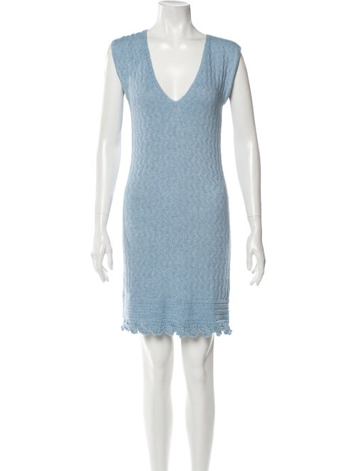 Victor Glemaud 2020 Crochet Trim Cover-Up Blue