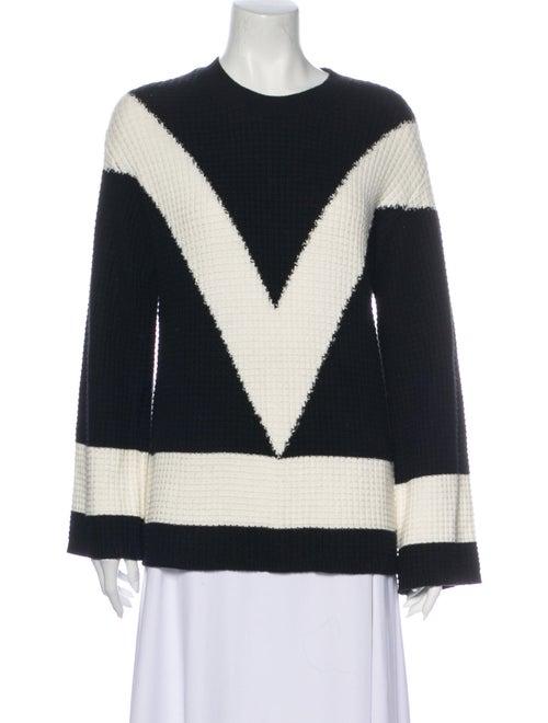 Victor Glemaud Striped Crew Neck Sweater Black