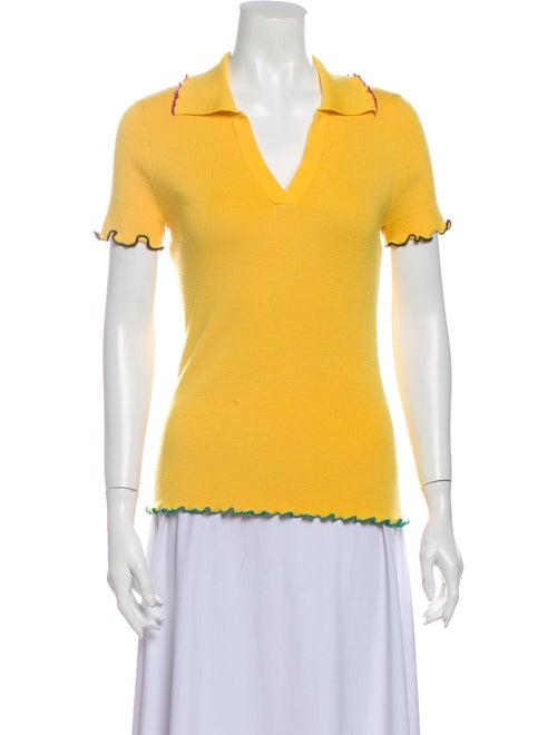 Victor Glemaud V-Neck Sweater Yellow