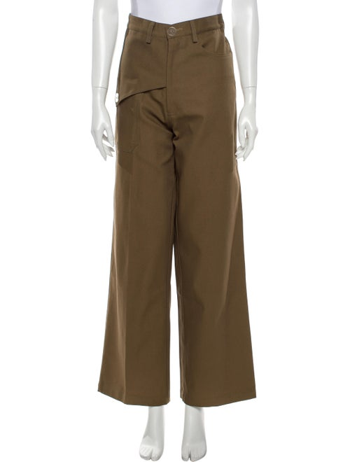 Viden Elma Wide Leg Pants Brown