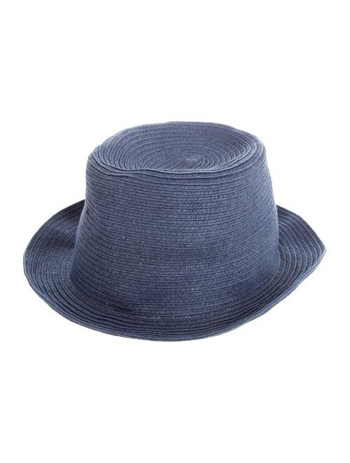 Vilebrequin Raffia Fedora Hat Navy