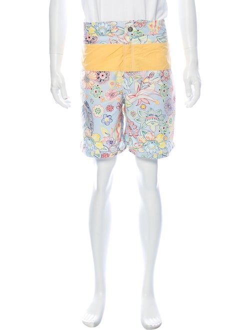 Vilebrequin Floral Print Swim Trunks Blue