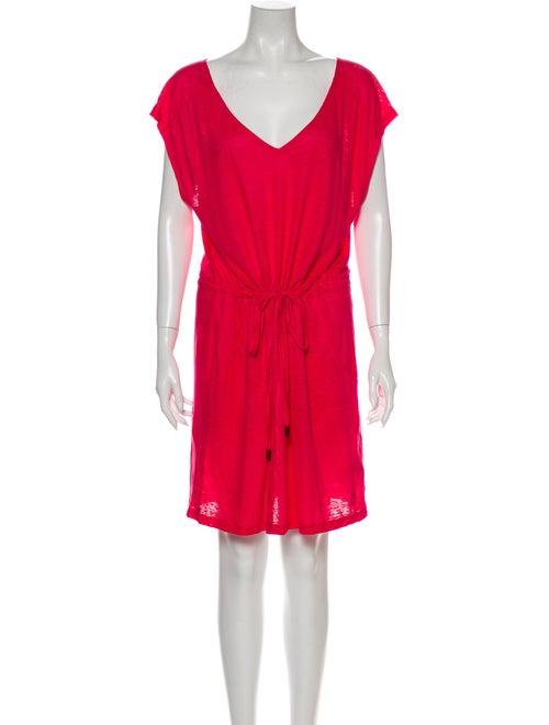 Vilebrequin Linen Mini Dress Pink